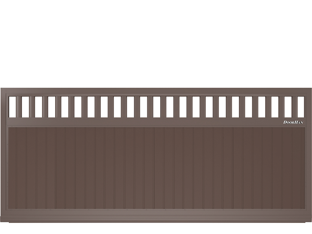 Щит c решеткой с вертикальным расположением сэндвич-панелей.
