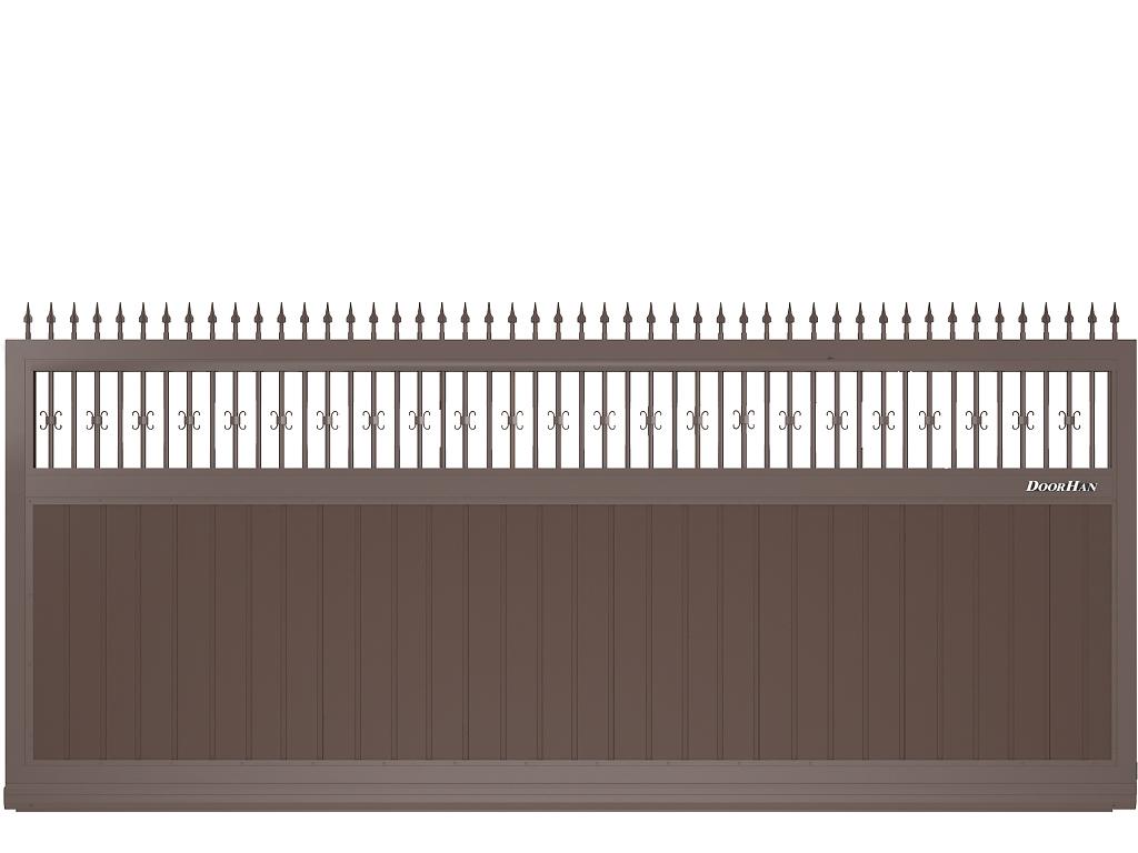 Щит с пиками и вензелями с вертикальным расположением сэндвич-панелей