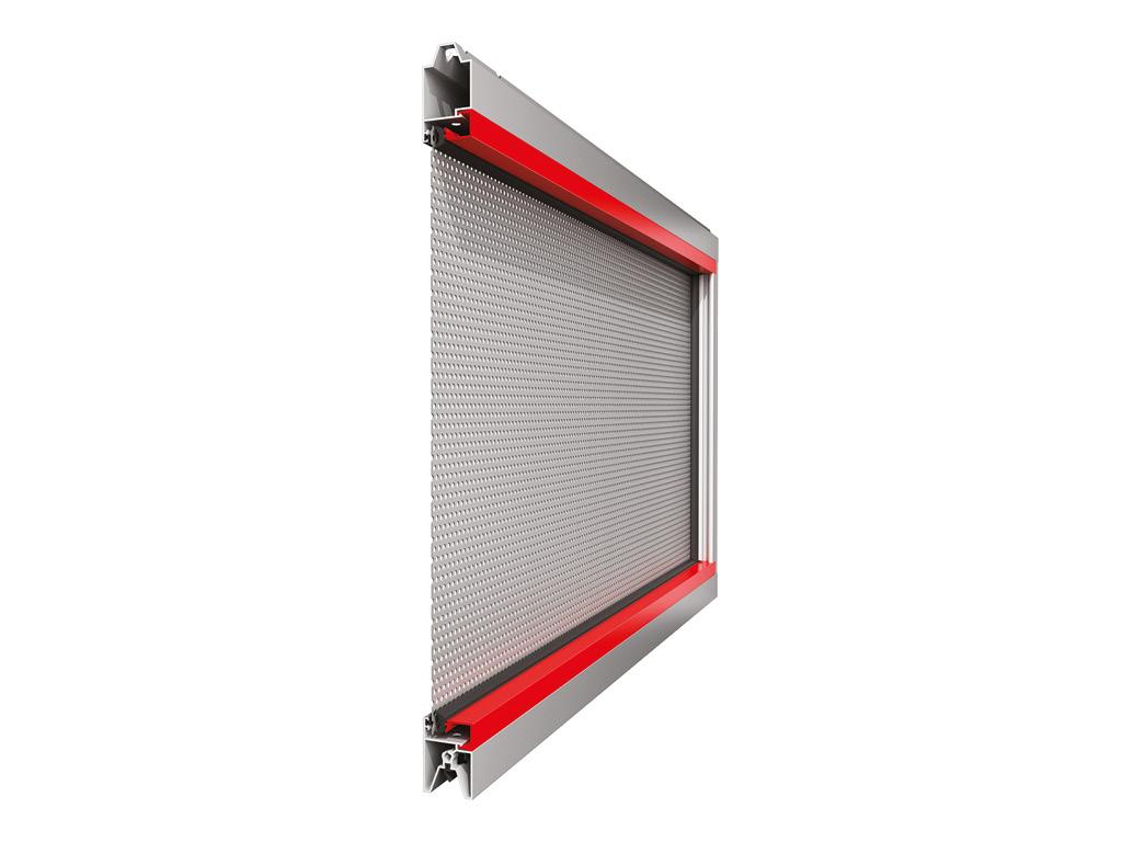 Панорамная панель с алюминиевым перфорированным листом